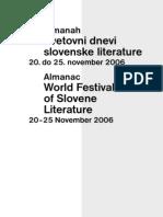Svetovni Dnevi Slovenske Literature