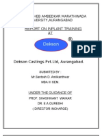 Project Report on DEKSON CASTINGS