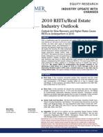 REIT Industry Outlook
