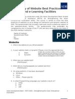 Website Best Practices Survery Questionnaire