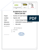 Hardness Test Procedure