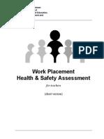 Work Placement Health Safety Checklist for Teachers