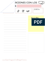 Documentos imprimibles para tutoría