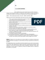 Pediatría Politicas en Salud - 10 Pasos y Indicaciones y Contraindicaciones Mañana