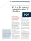 Timefor Business Students to Get an IP Education