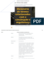 Dicionário de Termos Relacionados Com a Construção e Arquitetura