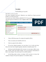 Steps to E-filing for IT