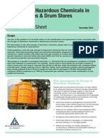 Storage of Hazardous Chemicals in Warehouses and Drum Stores