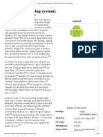 Android (Operating System) - Wikipedia, The Free Encyclopedia