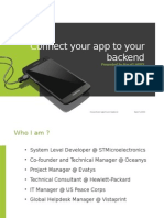 DroidconTn 2014 Connect Your App to Your Backend