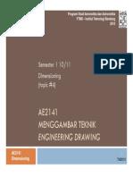 AE2141 4 Dimensioning 2010