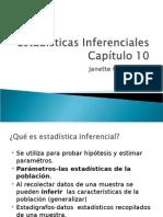 Cap .10 (6) Estadisticas Inferenciales