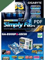 Gigabyte GA-890GPA-UD3H motherboard based on AMD 890GX chipset