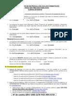Instrucciones Matrícula en F.P. y Pago de Precios Públicos Curso 2015-16-1