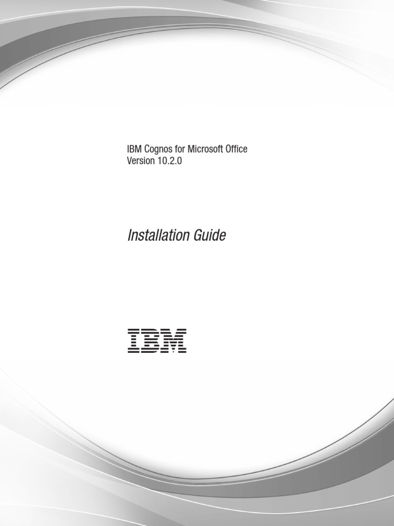 Ibm Cognos For Microsoft Office Installation Guide Ig Cxc 64 Bit