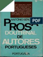 SÉRGIO, Antonio - Prosa Doutrinal de Autores Portugueses