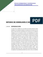 ESTUDIO HIDROLOGICO  DE LA REHABILITACION Y CONSTRUCCION DE CARRETERA HUACRACHUCO SAN BUENAVENTURA