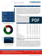 Weekly Fundamental Review- Company Report( 21st-27th Feb 2010)