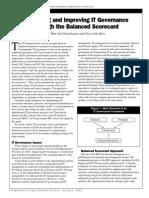 IT Governance through balanced scorecard
