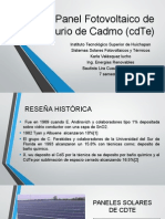 Panel Fotovoltaico de Telurio de Cadmo (CdTe