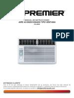 manual de instrucciones equipos de aire acondicionado tipo ventana