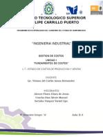 1.7.-ESTADO DE COSTOS DE PRODUCCION Y VENTAS