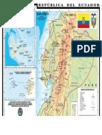 Mapa Fisico Del Ecuador