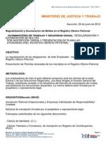 Regularizacion y Exoneracion de Multas en El Registro Obrero Patronal