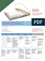 Timeslot Planer und Notizen - September