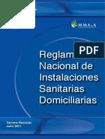 Reglamento Nacional de Instalaciones Sanitarias Domiciliarias