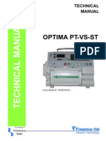 Fresenius Optima PT,Vs,ST - Service Manual