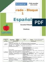 Plan 1er Grado - Bloque 1 Español