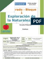 Plan 1er Grado - Bloque 1 Exploración de La Naturaleza
