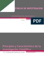 Principios y Característica de La Investigación Científica
