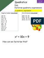 Factor is Ing Quadratics