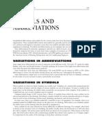 Symbols & Abbreviations