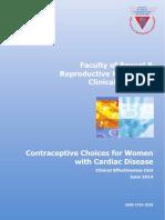 Contraceptive Choices Women Cardiac Disease 2014 RCOG ,UK