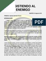 Resistiendo Al Enemigo (Apostol German Ponce)