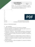 Modelo Acta de Constitucion Brigada de Emergencias