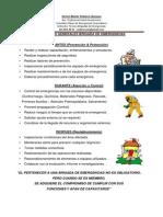 Funciones Generales Brigadas de Emergencias