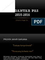 Pengantar Pas GANJIL 15-16