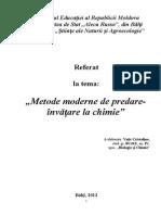 Referat 'Metode moderne de predare la chimie'