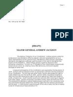 Major General Andrew Jackson Essay for American History