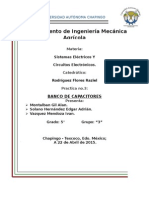 Practica de banco de capacitores y triangulo de potencias