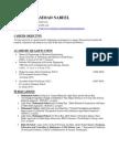 Sample Email CV