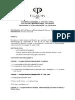 Programa Tópicos de Fenomenologia II