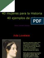40 Mujeres Para La Historia
