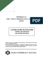 Sukatan Pelajaran Literature in English STPM