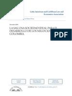 LA SAS, UNA SOCIEDAD IDEAL PARA EL DESARROLLO DE LOS NEGOCIOS EN COLOMBIA.pdf