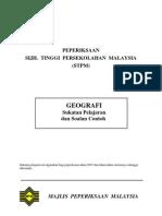 Sukatan Pelajaran Geografi STPM